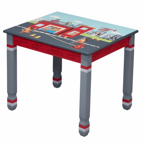 Fantasy Fields Lil Fire Fighters Childrens Kids Toddler Wooden Table TD-12514A1 Perspective: front