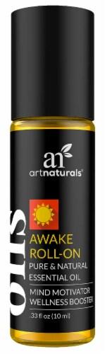 ArtNaturals Awake Roll-On Pure & Natural Essential Oil Mind Motivator Wellness Booster Perspective: front