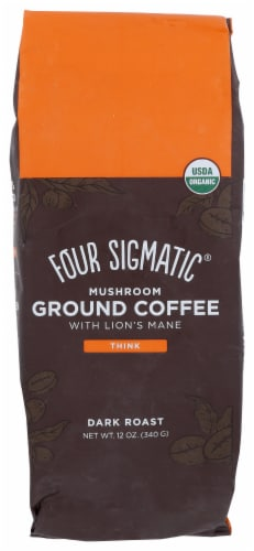 Four Sigmatic Mushroom Coffee Mix Dark Roast Ground Coffee Perspective: front