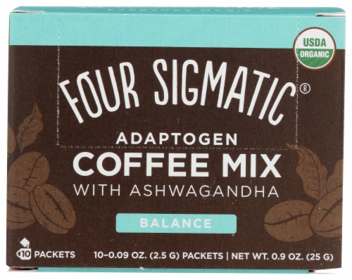 Four Sigmatic Adaptogen Balance Coffee Mix with Ashwagandha Perspective: front