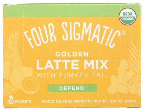 Four Sigmatic Organic Mushroom Golden Latte Mix Packets Perspective: front