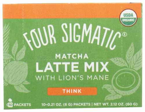 Four Sigmatic Mushroom Matcha Latte Mix Packets Perspective: front