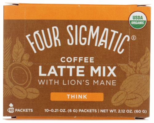 Four Sigmatic Think Coffee Latte Mix with Lions Mane Perspective: front