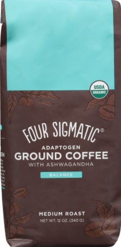 Sour Sigmatic Adaptogen Ground Coffee Perspective: front