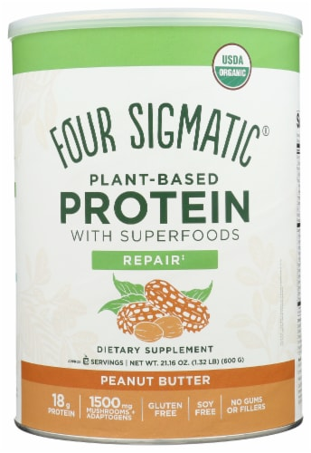 Four Sigmatic Repair Peanut Butter Plant-Based Protein with Superfoods Perspective: front