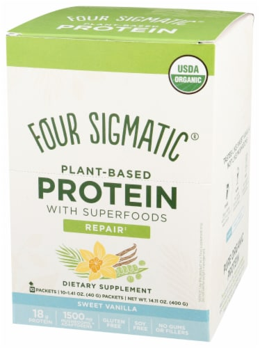 Four Sigmatic Protein Sweet Vanilla Repair Dietary Supplement Perspective: front