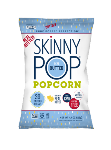 SkinnyPop Real Butter Popcorn Perspective: front