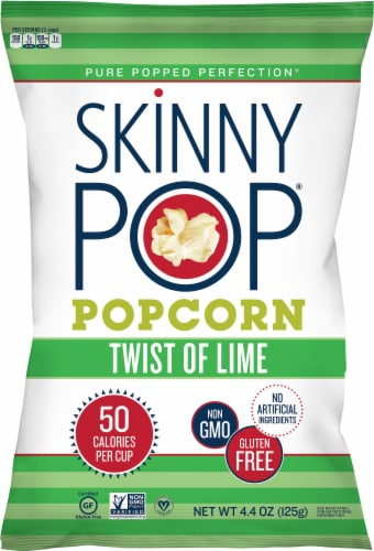 SkinnyPop Twist of Lime Popcorn Perspective: front