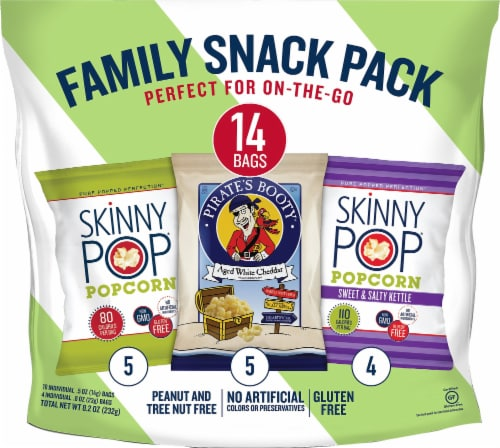 SkinnyPop Family Snack Pack 14 Count Perspective: front