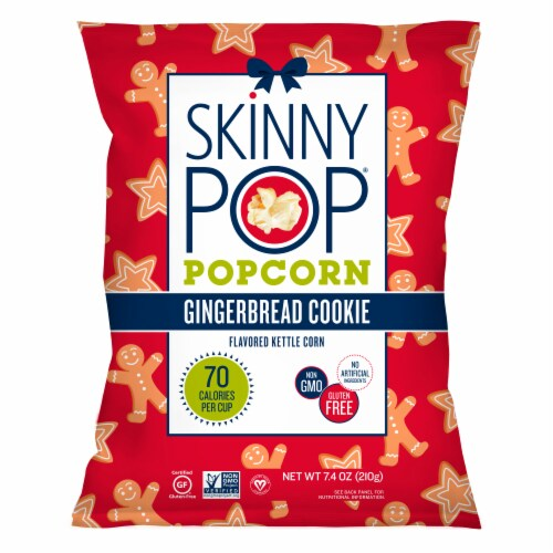 SkinnyPop Gingerbread Cookie Flavored Kettle Corn Perspective: front