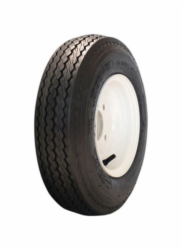 Marastar 8 in. Dia. x 16.4 in. Dia. 745 lb. capacity 5-Bolt Tire Rubber 1 pk - Case Of: 1; Perspective: front