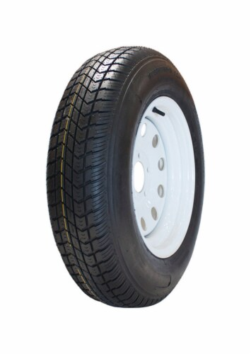 Marastar 14 in. Dia. x 25.6 in. Dia. 1760 lb. capacity 5-Bolt Tire Rubber 1 pk - Case Of: 1; Perspective: front