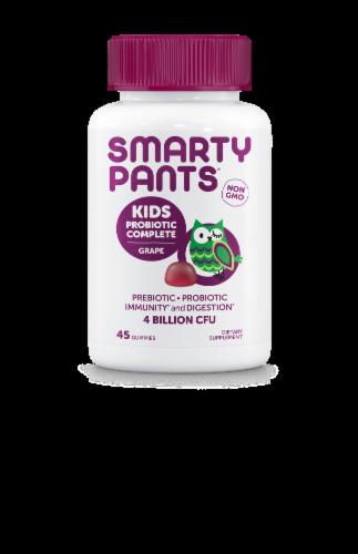 SmartyPants Kids Grape Probiotic Complete Dietary Supplement Gummies Perspective: front