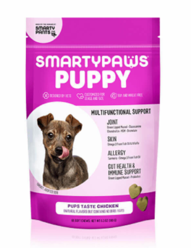 SmartyPants SmartyPaws Puppy Formula Chicken Flavor Treats Perspective: front