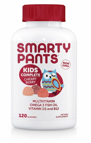 SmartyPants Kids Complete Cherry Berry Multi Vitamin Gummies Perspective: front