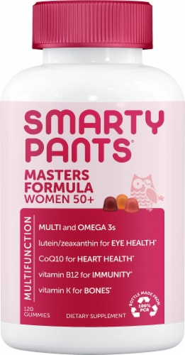 SmartyPants Masters Complete Women's 50 Plus Multivitamin Gummies Perspective: front