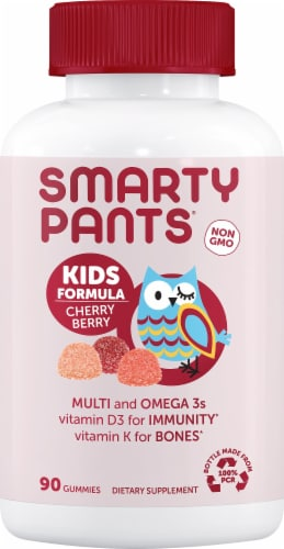 SmartyPants Kids Formula Cherry Berry Multivitamin Perspective: front
