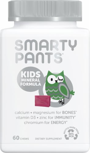 SmartyPants Kids Mineral Complete Mixed Berry Multimineral Chewables - 60 Count Perspective: front