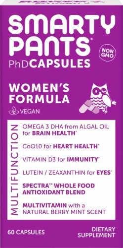 SmaryPants PhD Women's Formula Multifunctional Vegan Capsules Perspective: front