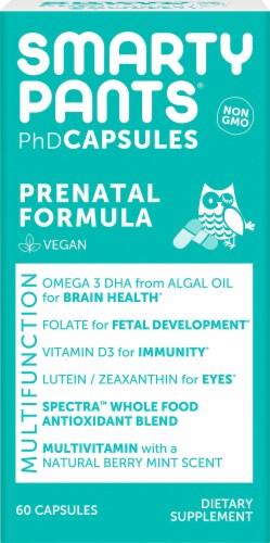 Smarty Pants PhD Prenatal Formula Multifunctional Vegan Capsules Perspective: front