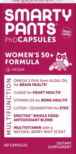Smarty Pants PhD Women's 50+ Formula Multifunction Vegan Capsules Perspective: front