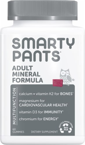 SmartyPants Mix Berry Flavored Adult Mineral Complete Chews Perspective: front
