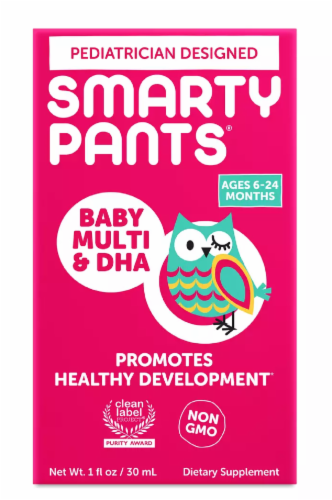 SmartyPants Baby Multi & DHA Supplement Perspective: front