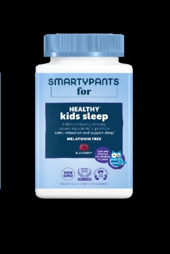 SmartyPants Healthy Kids Sleep Blackberry Gummies Perspective: front