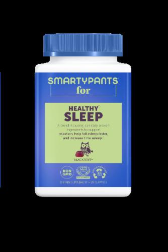 SmartyPants Blackberry Adult Healthy Sleep Gummies Perspective: front