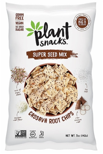 Plant Snacks Super Seed Mix Cassava Root Chips Perspective: front