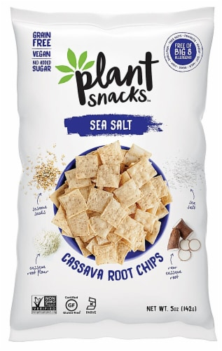 Plant Snacks Sea Salt Cassava Root Chips Perspective: front