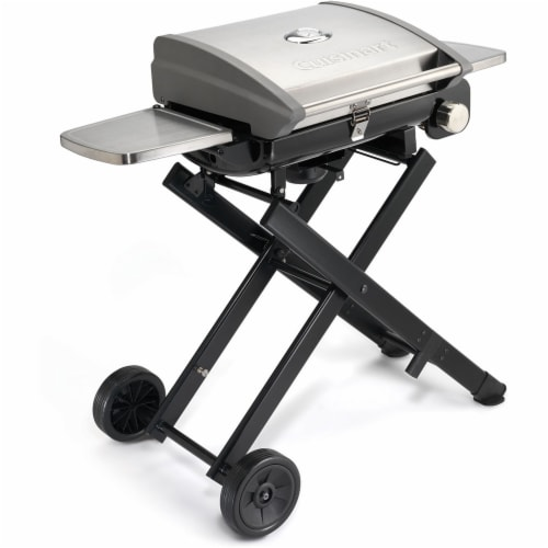 Cuisinart All Foods Roll-Away Portable Outdoor Gas Grill Perspective: front