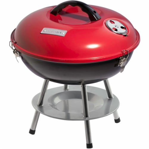 Cuisinart Portable Charcoal Grill - Red Perspective: front
