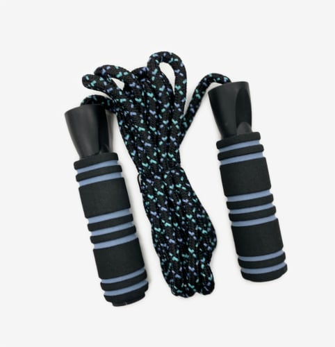 Oak and Reed Weighted Jump Rope, Blue Multi Perspective: front