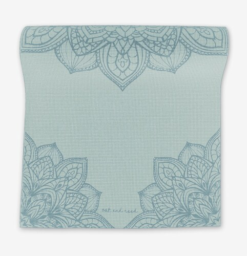 Oak and Reed Extra-Thick Non-Slip Yoga Mat, Mint Medallion Perspective: front