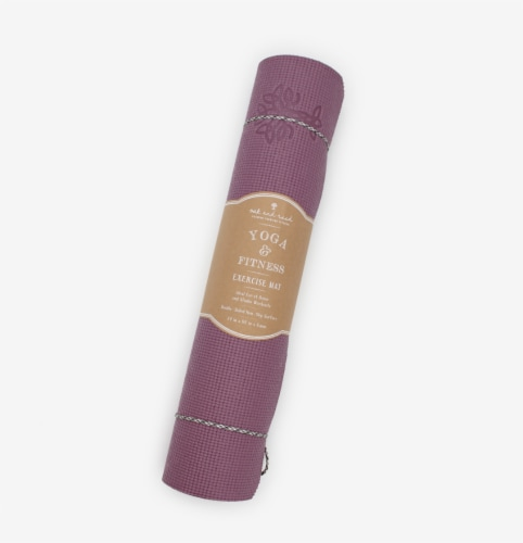 Oak and Reed Extra-Thick Non-Slip Yoga Mat with Carry Rope, Mauve Perspective: front