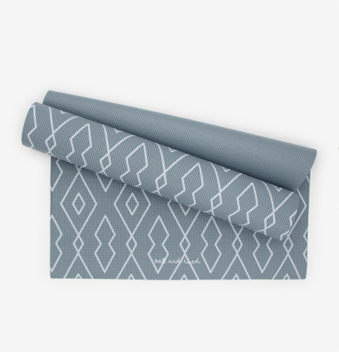 Oak and Reed Non-Slip  Yoga Mat, Blue Diamond Geo Perspective: front
