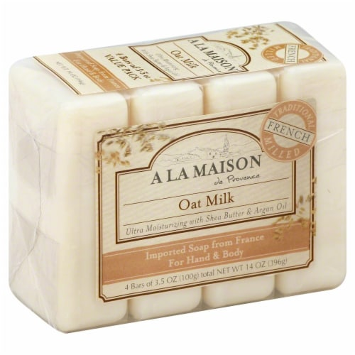 A La Maison Oat Milk Soap Bars Perspective: front