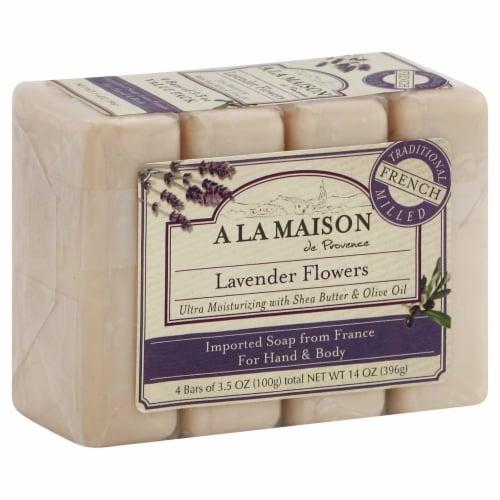 A La Maison Lavender Flowers Soap Perspective: front