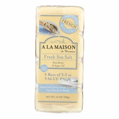 A La Maison - Bar Soap - Fresh Sea Salt - 4/3.5 Oz Perspective: front