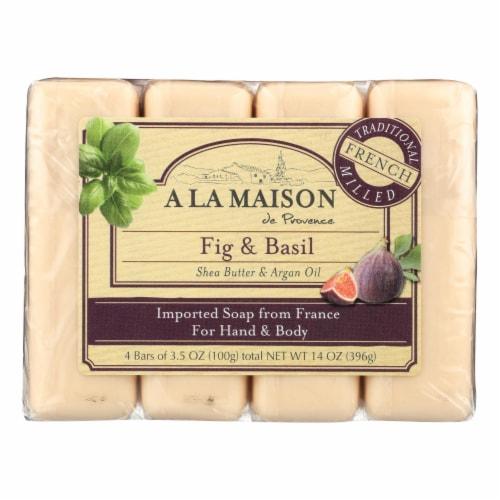 A La Maison - Bar Soap - Fig and Basil - 4/3.5 Oz Perspective: front