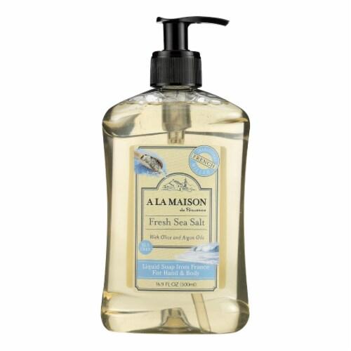A La Maison - French Liquid Soap - Fresh Sea Salt - 16.9 oz Perspective: front