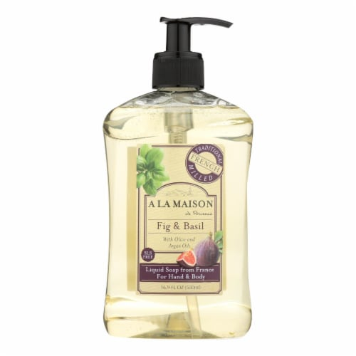 A La Maison - French Liquid Soap - Fig and Basil - 16 oz Perspective: front