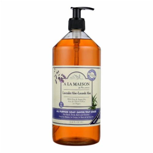 A La Maison - Liquid Hand Soap - Lavender Aloe - 33.8 fl oz. Perspective: front