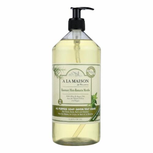 A La Maison - Liquid Hand Soap - Rosemary Mint - 33.8 fl oz. Perspective: front