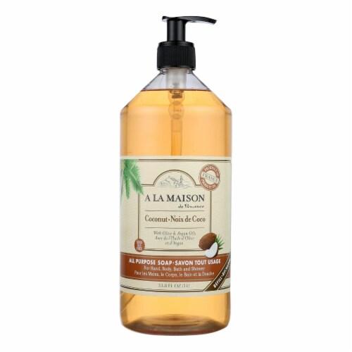 A La Maison - Liquid Hand Soap - Coconut - 33.8 fl oz. Perspective: front