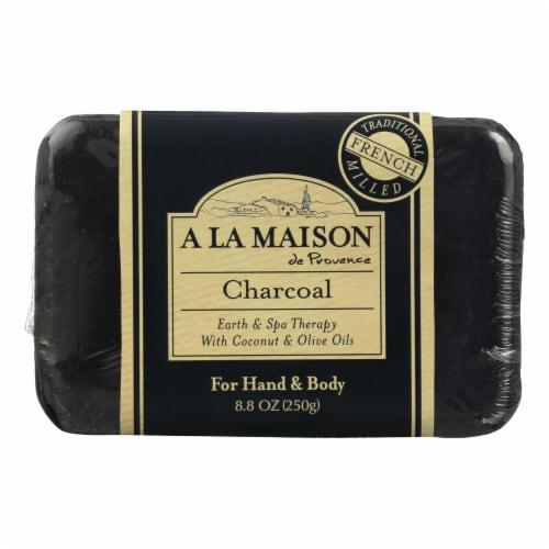 A La Maison - Bar Soap - Charcoal - 8.8 Oz Perspective: front
