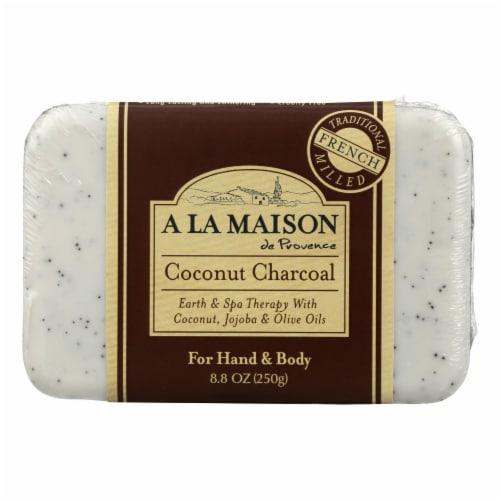 A La Maison - Bar Soap - Coconut Charcoal - 8.8 Oz Perspective: front