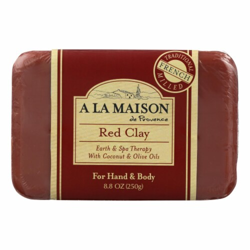 A La Maison - Bar Soap - Red Clay - 8.8 Oz Perspective: front
