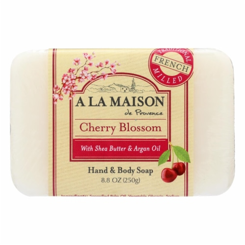 A La Maison - Bar Soap Cherry Blossom - 1 Each - 8.8 OZ Perspective: front